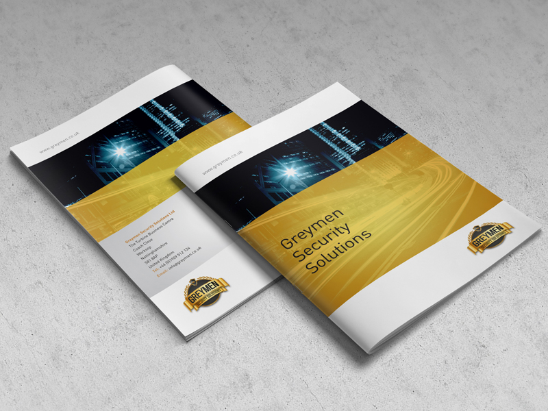 Brochure Design - Greymen Security Brochure