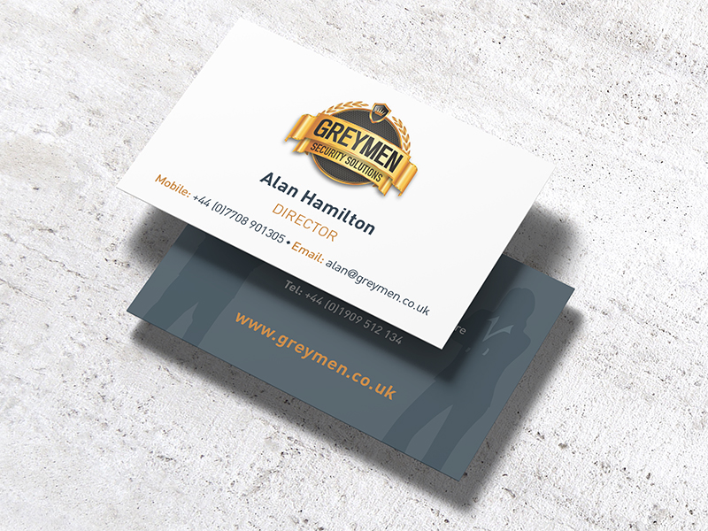 Business Cards - Greymen Security Solutions