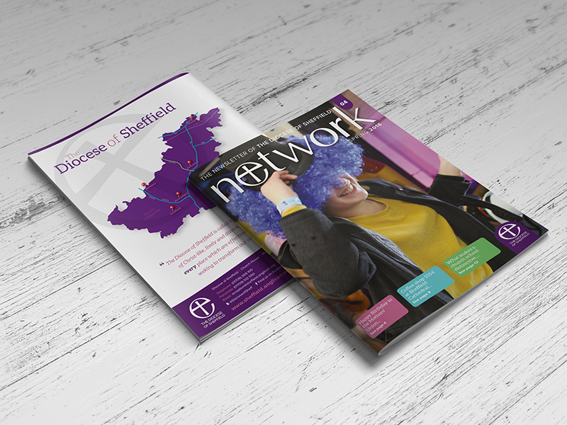 Brochure Design - The Diocese of Sheffield - Network News Cover