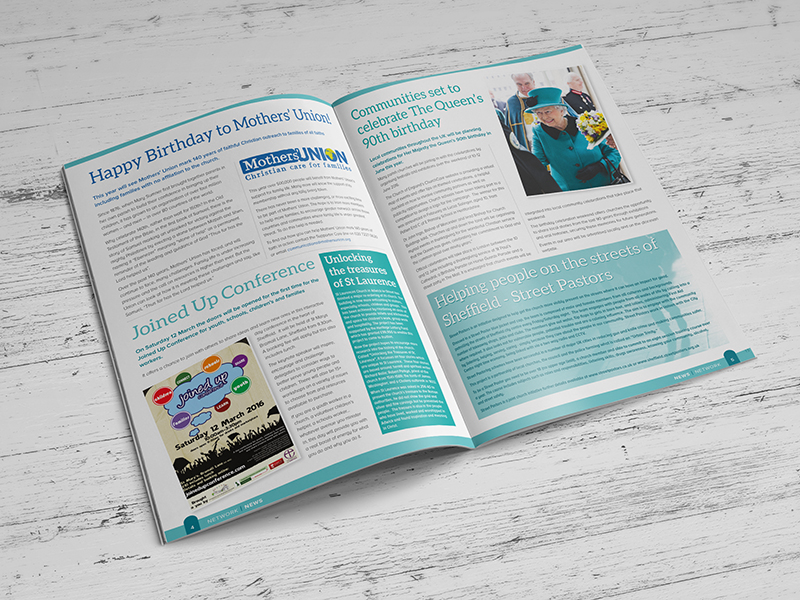 Brochure Design - The Diocese of Sheffield - Network News 2