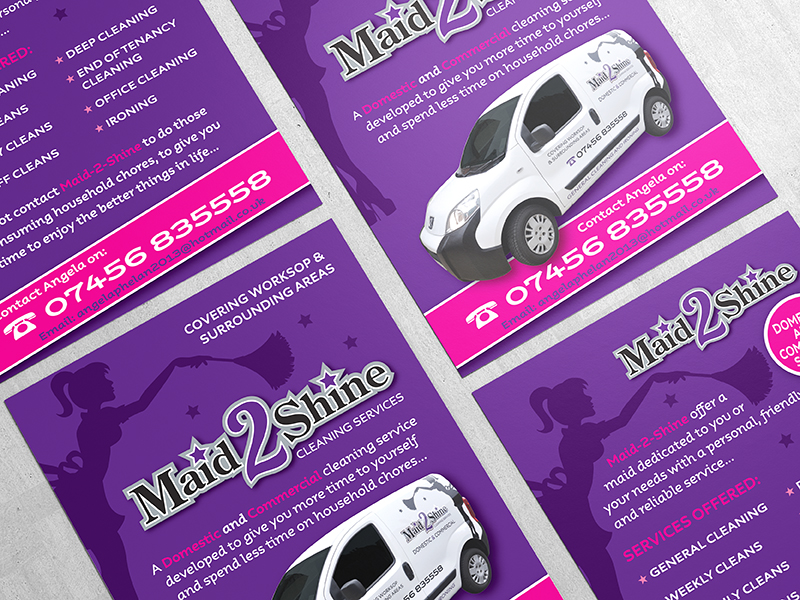 Leaflet Design - Maid 2 Shine