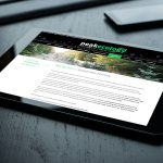 Web Design - Peak Ecology Tablet View
