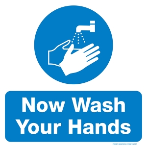 WASH HAND SIGN_300x300mm